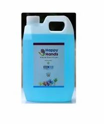 Happy Hands Hand Sanitizer 5 Liter, Ethanol, Packaging Type: Can