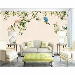 Matte And Glossy Hand Made Wall Painting, For Home Decor