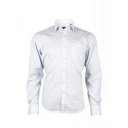 Men Cotton White Plain Shirts, Size: S to XXL
