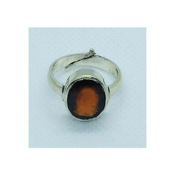 Hessonite Garnet Gomedh Ring