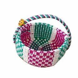 VOOLEX Handmade Plastic Flower Basket