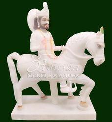 White Marble Ramdev Baba Murti