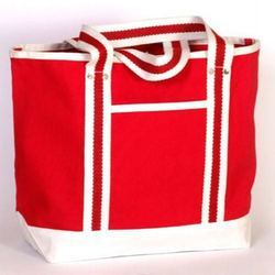 Natural Cotton Loop Handle Carry Bag, Size/dimension: 13 (h) X 18 (w) X 5.5 Inches Bottom Gusset