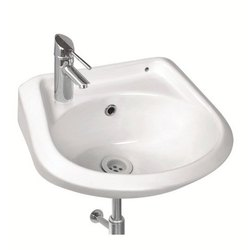 White Wall Mounted Ceramic Wash Basin