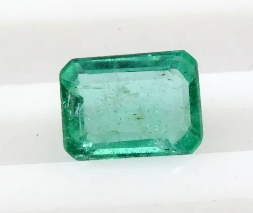 Green 0.99 Ct Loose Emeralds Gemstone Octagon Cut Ethopian Certified