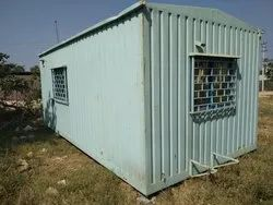 Steel Used Portable Office Cabin with Attached Toilet