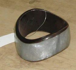 Triangle Silver And Black Bangle