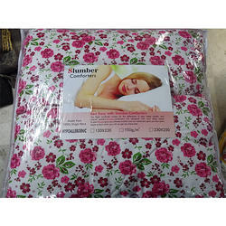 Red Flower Printed AC Cotton Comforter