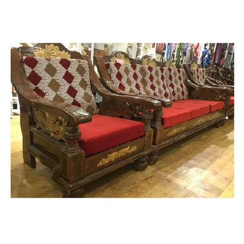 Provincial Teak Teak Wood 5 Seater Sofa Rs 39999 Set Manthralayam Decors And Furnitures Id 20530950948
