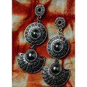 Oxidized Silver Frumpy Earrings