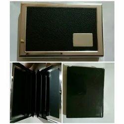 Black Leather Visiting Card Holder