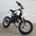 White 50 CC Kids Dirt Bike