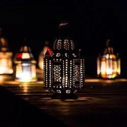 Bohemian Tin Lamp