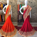 Marble Chiffon Designer Saree with Blouse Piece, Length: 5.5 m