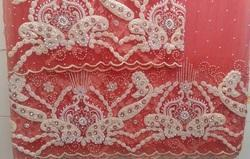 Pearl Embroidery Net Fabric