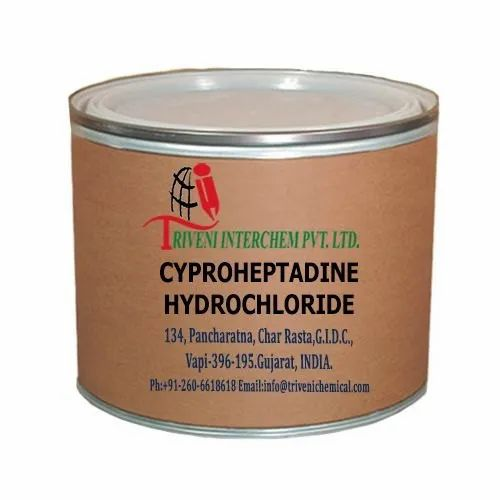 Technical Grade Powder Cyproheptadine Hydrochloride, Packaging Size: 25 Kgs, Packaging Type: Fiber Drum