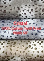 Cotton Twill Shirting Fabric (Cristal)