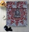 Cotton Printed Buddha Double Bed Sheet