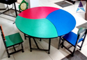 Trio Football Kids Table