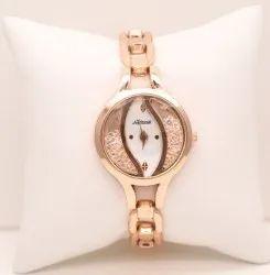 Rose Gold White Dial Beautiful Fancy Watch