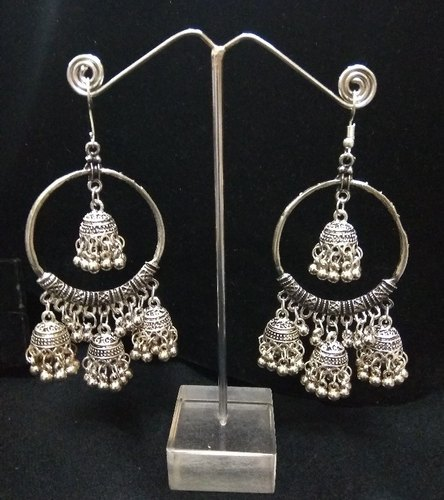 e309f19ba Silver Oxidized High Class Luxury Hot Selling 3 Jhumki Afghani Earrings