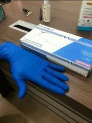 Latex Surgical Hand Gloves Blue, For Hospital, Size: Medium