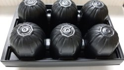 Black Plastic Egg Tray, No Of Egg Capacity: 6 Thickness 0.5 mm