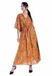 Rayon Long Kaftan Sleepwear Night Dress