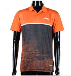 KD Li-Ning Polo T-Shirt for Men's - Neon Orange