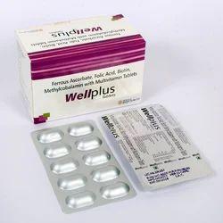 Ferrous Ascorbate Folic Acid Calcium Methylcobalamin with Multivitamin Tablets