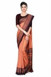 Plain And Printed Saree