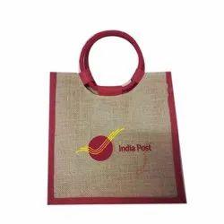 Brown Jute Round Handle Promotional Bag, Capacity: 2kg