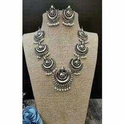 German Silver Temple Necklace Set