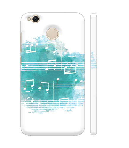 Colorpur Musical Notes Blue Artwork On Xiaomi Redmi 4 Cover