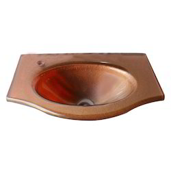 Brown Glass Wash Basin