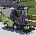 Tennant Green Sweeping Machine