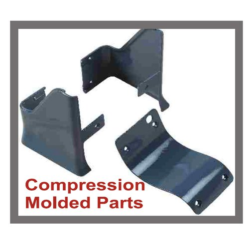 Plastic Grey Compression Molded Parts, Packaging Type: Box