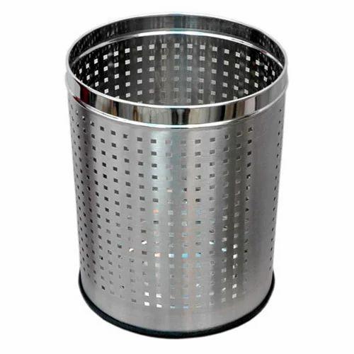Stainless Steel Round Perforation Bin