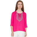 Ladies Pink Casual Top
