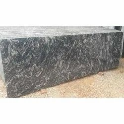 Polished River Black Granite, For Flooring, Thickness: 15-20 mm