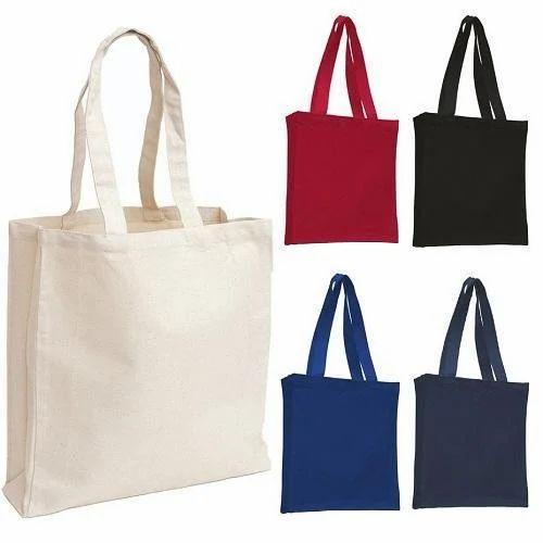 Plain Cotton Canvas Tote Bags, Rs 100 /piece Asha Art & Crafts ...