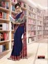 Silk Crape Uniform Wear Saree