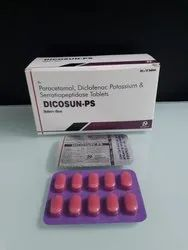 Diclofenac 50 mg Paracetamol 325 mg, Potassium & Serratiopeptidase 10 mg Tablets.