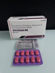 Diclofenac 50 mg Paracetamol 325 mg Serratiopeptidase 10 mg Tablets