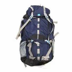 Plain Polyester Dark Blue Trekking Bag