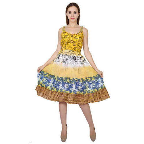 Cotton Printed Knee Length Dress Rs 150 Piece Nakashi Id 17425474033