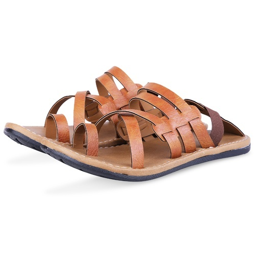13feeb0fb119 Metmo Men  s Brown Synthetic Leather Sandals