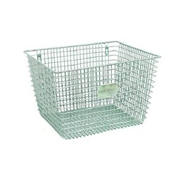 Green Iron Metal Wire Baskets, for Kitchen