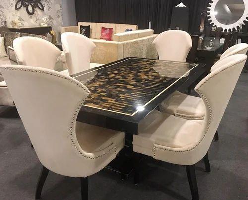 Cream Color Designer Table Dining Set, Cream Colored Dining Room Furniture