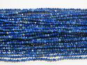 Blue Lapis Lazuli Faceted Round Stone Beads